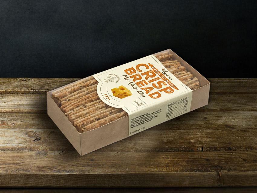 CRISP BREAD με τυρί 130γρ